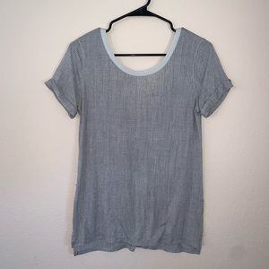 Lululemon Grey Sheer Tee